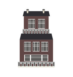 city element three-storey apartment public vector image