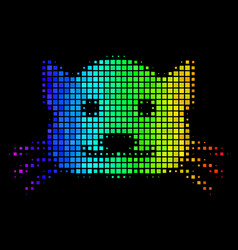 colored dotted kitty icon vector image