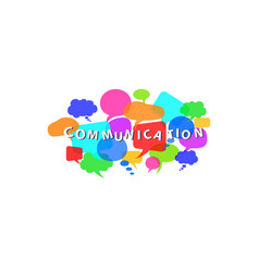 communication concept with colorful dialogue vector image