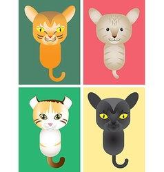 Cute cats cartoon vector