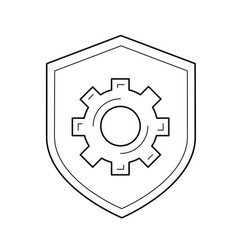 data protection line icon vector image