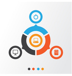 Digital icons set collection of desktop monitor vector