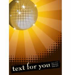 disco ball banner vector image