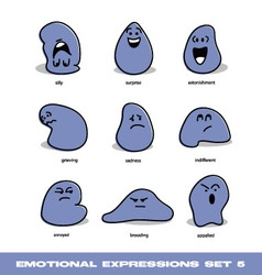 emotional expressions set vector image