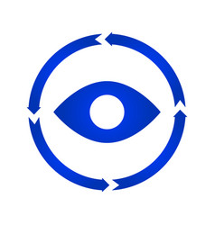 eye turn icon vector image