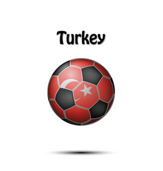 Flag of turkey in the form of a soccer ball vector