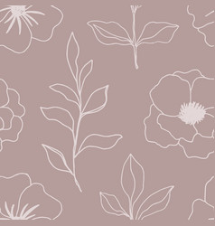 floral seamless pattern with blossom flowers vector image