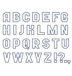 Font outline vector image