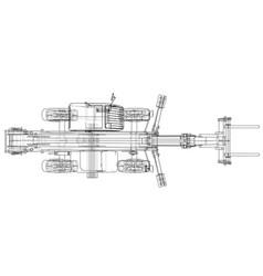 forklift concept vector image