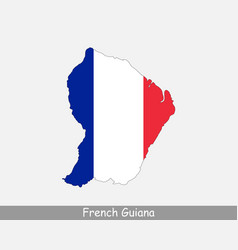 french guiana map flag vector image
