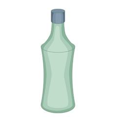Glass bottle icon cartoon style vector