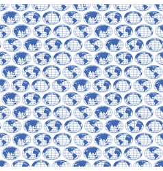Globe maps pattern vector