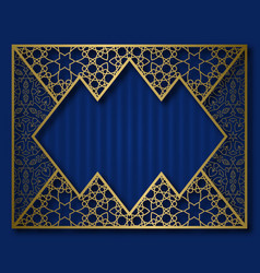 Golden frame in vintage style invitation card vector