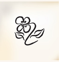 hand drawn flower vector image