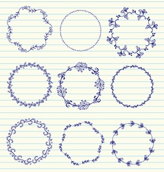 hand sketched wreaths vector image vector image