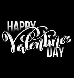 happy valentines day card template poster vector image