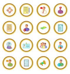 human resources icons circle vector image