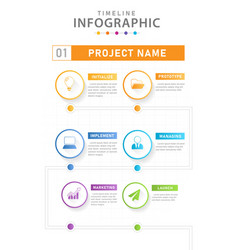infographic modern timeline diagram with workflow vector image