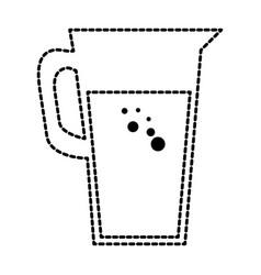 juice glass pot icon vector image