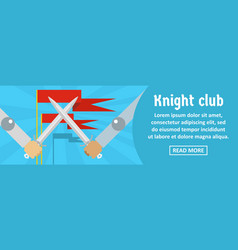 knight club banner horizontal concept vector image