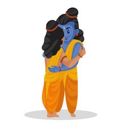 Lakshman and lord rama cartoon character vector