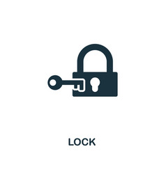 lock icon premium style design from security icon vector image