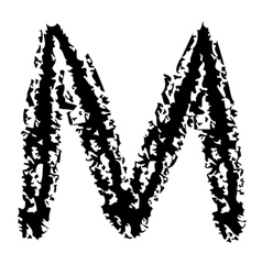 M Brushed vector image
