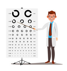 Male ophthalmology sight eyesight vector