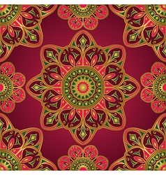 Ornament on a burgundy background vector