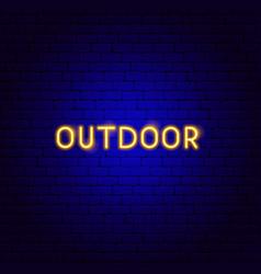 outdoor neon text vector image