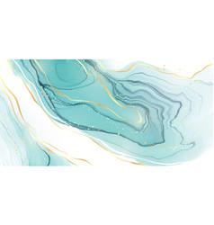 Pastel cyan mint liquid marble watercolor vector