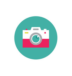 photo camera - concept colored icon vector image