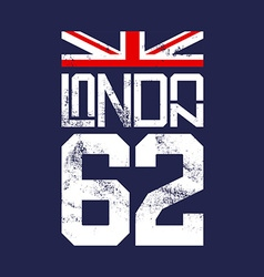 Print for T-shirts English flag London vector