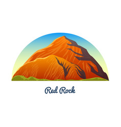 red rock canyon nevada mountains peaks vector image