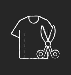 resizing clothes chalk white icon on black vector image