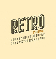 retro style vintage font vector image