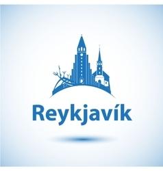 Reykjavik skyline - vector image