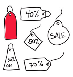 sale banners in doodle style vector image