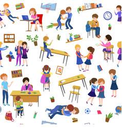 School cartoon pattern vector