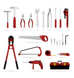 set hardware tool a set hardware tool that vector image