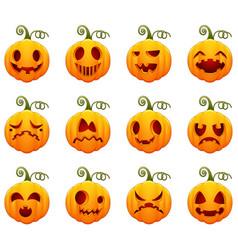 Set of pumpkin for halloween vector