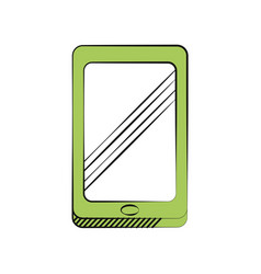 smartphone technology communication icon vector image