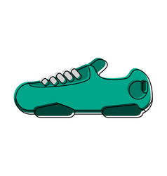 sneakers sport shoes icon image vector image