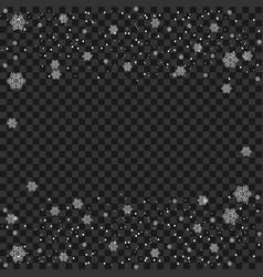 snowflake transparent white glittering snow dust vector image