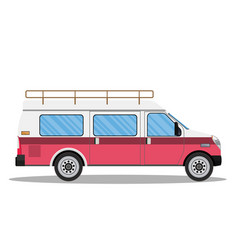 travel van icon vector image