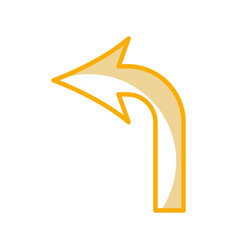 turn left arrow traffic signal icon vector image