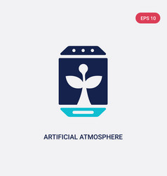 Two color artificial atmosphere icon from vector