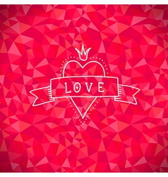 Valentine crystal love heart vector image