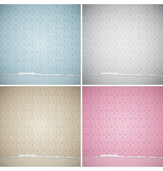 vintage backgrounds vector image
