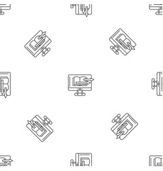 Web book transfer pattern seamless vector
